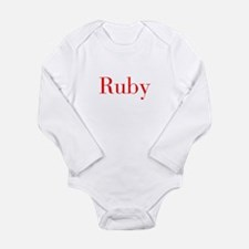 Ruby-bod red Body Suit