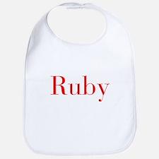 Ruby-bod red Bib