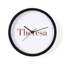 Theresa-bod red Wall Clock
