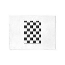 black and white checkered design 5'x7'Area Rug