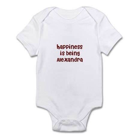 happiness is being Alexandra Infant Bodysuit