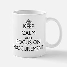 Keep Calm and focus on Procurement Mugs