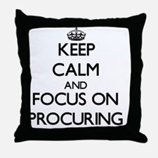 Keep Calm and focus on Procuring Throw Pillow