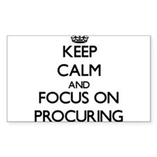 Keep Calm and focus on Procuring Decal