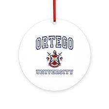 ORTEGO University Ornament (Round)