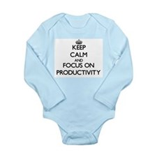 Keep Calm and focus on Productivity Body Suit