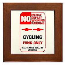 NO PARKING Cycling Sign Framed Tile