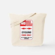 NO PARKING Cycling Sign Tote Bag