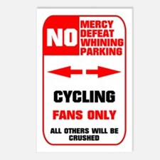 NO PARKING Cycling Sign Postcards (Package of 8)