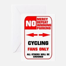 NO PARKING Cycling Sign Greeting Cards (Package of