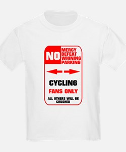 NO PARKING Cycling Sign T-Shirt