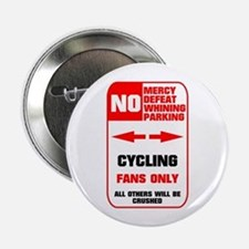"""NO PARKING Cycling Sign 2.25"""" Button (10 pack)"""