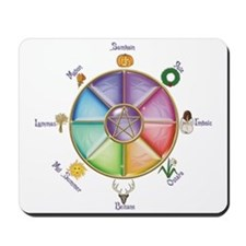 """WHEEL OF THE YEAR 1"" Mousepad"