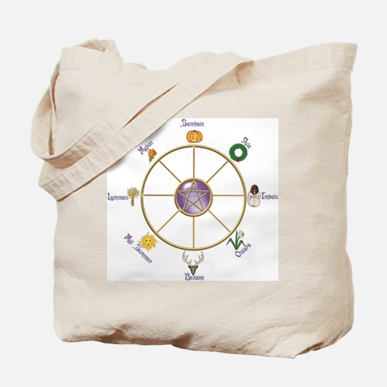 Funny Wheel of the year Tote Bag