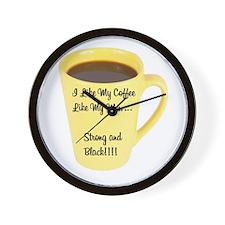 I Like My Coffee Like My Men Wall Clock