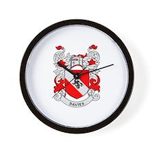 DAVIES Coat of Arms Wall Clock