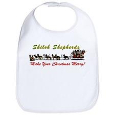 Merry Shiloh Shepherd Christmas Bib