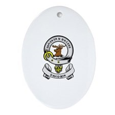 DAVIDSON 2 Coat of Arms Oval Ornament