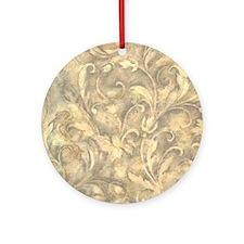 vintage grey design Ornament (Round)