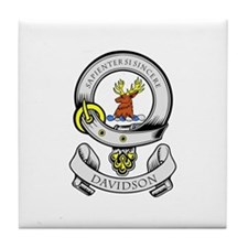 DAVIDSON 1 Coat of Arms Tile Coaster