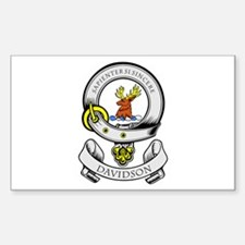 DAVIDSON 1 Coat of Arms Rectangle Decal
