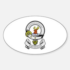 DAVIDSON 1 Coat of Arms Oval Decal