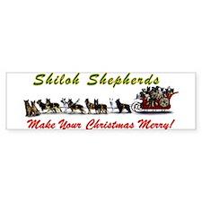 Merry Shiloh Shepherds Christmas Bumper Bumper Sticker
