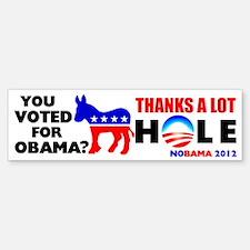 """""""You Voted For Obama?"""" Bumper Bumper Bumper Sticker"""