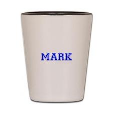 MARK-var blue Shot Glass