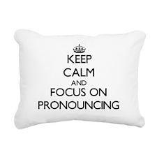 Keep Calm and focus on P Rectangular Canvas Pillow