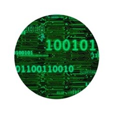 """Binary Numbers 3.5"""" Button (100 pack)"""