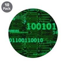 "Binary Numbers 3.5"" Button (10 pack)"