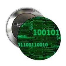 """Binary Numbers 2.25"""" Button (10 pack)"""