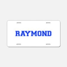 RAYMOND-var blue Aluminum License Plate