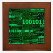 Binary Numbers Framed Tile
