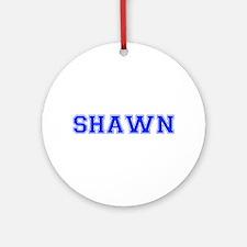 SHAWN-var blue Ornament (Round)