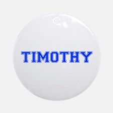 TIMOTHY-var blue Ornament (Round)