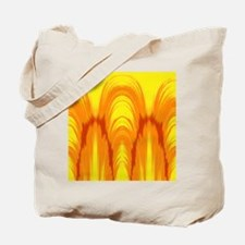 Bright yellow and orange tie dye Ikat Tote Bag