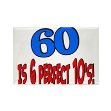 60is6perfect10sBLUE Magnets
