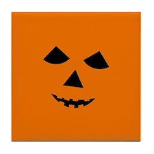 Jack-o-Lantern Face Tile Coaster