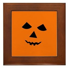 Jack-o-Lantern Face Framed Tile