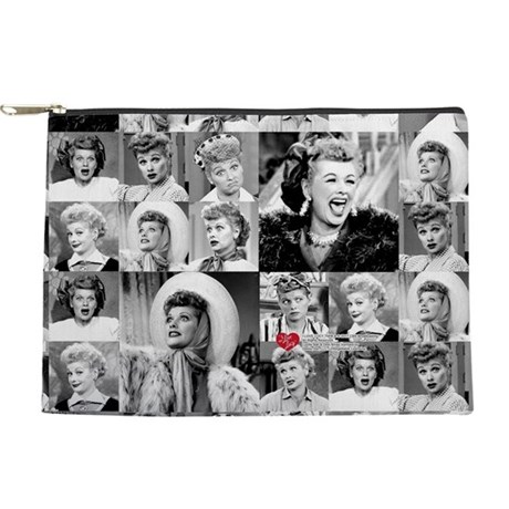 I Love Lucy Face Collage Makeup Pouch
