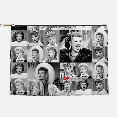 I Love Lucy Face Collage Makeup Bag