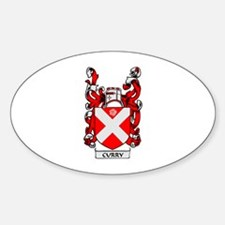 CURRY Coat of Arms Oval Decal