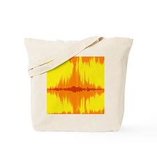 Bright yellow and orange tie dye Ikat Tote Bag