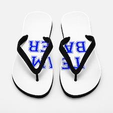 team BAKER-var blue Flip Flops