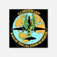 Dragon Lady Rectangle Sticker