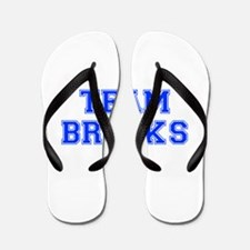 team BROOKS-var blue Flip Flops