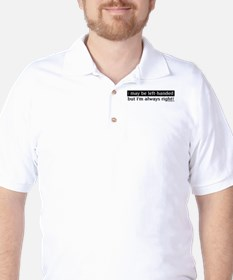 Left-Handed People Humor Golf Shirt