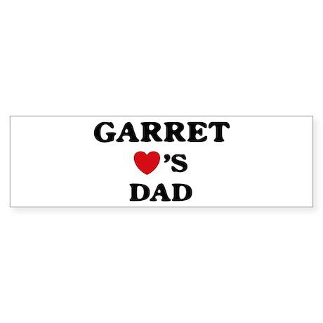 Garret loves dad Bumper Sticker
